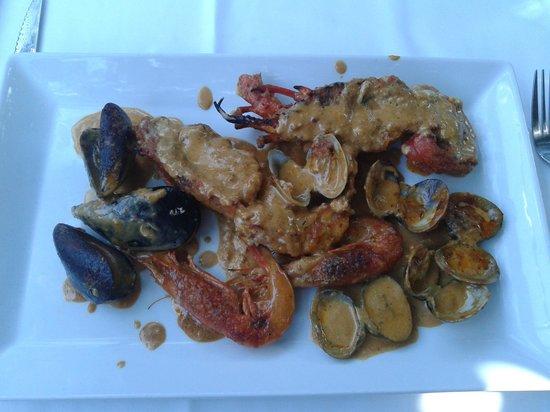 Restaurante Amar: Langosta al romesco
