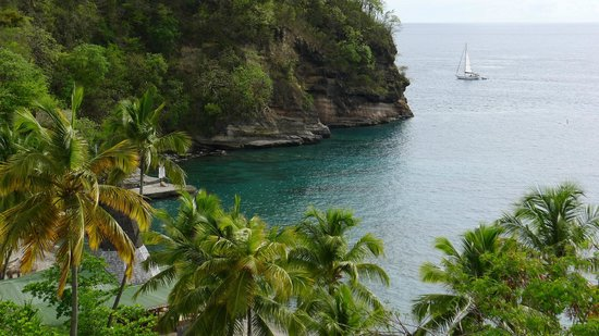 Anse Chastanet: View from steps leading to beach