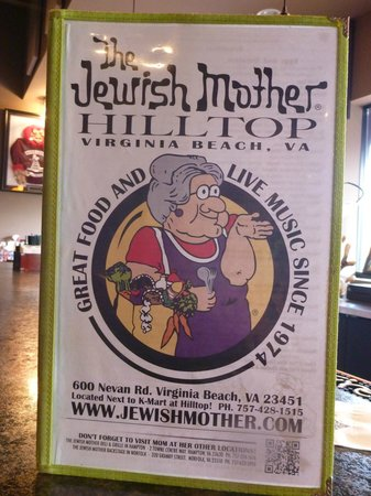 Jewish Mother hilltop: This states it all.