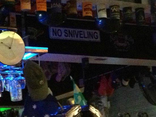Nicky's Handlebar: No Snivelling