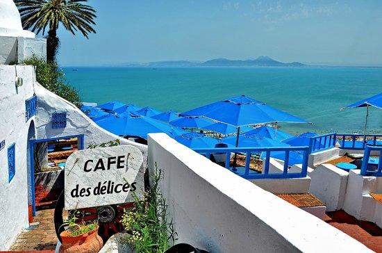 "Cafe des Delices : Sidi bou Said "" Cafè de delices""..."