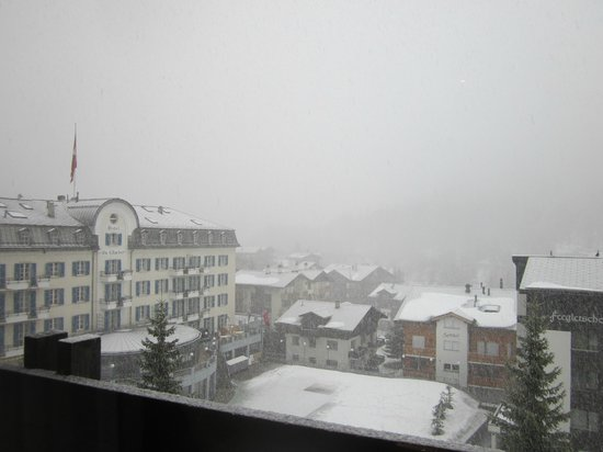 The Dom Hotel: View from balcony (snowy day)