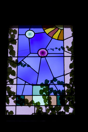 The William Henry Miller Inn: Just one of the Tiffany stained glass windows
