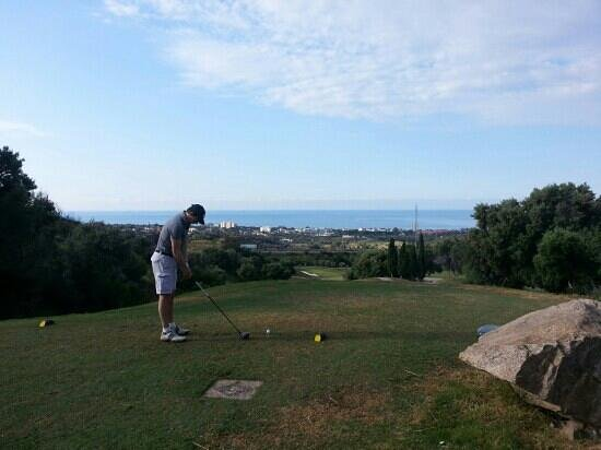 Marbella Golf & Country Club: top of the hill. another long iron off the tee.