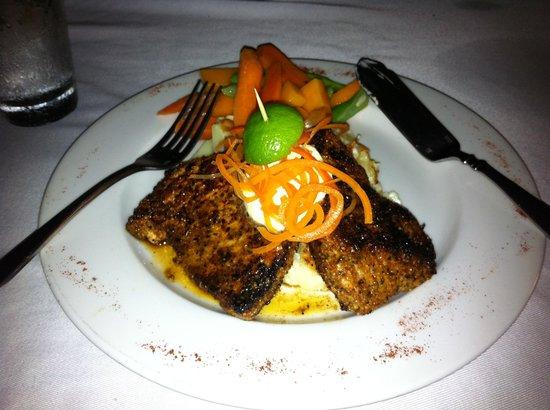 The Beach House Restaurant: Blackened swordfish Mmm!