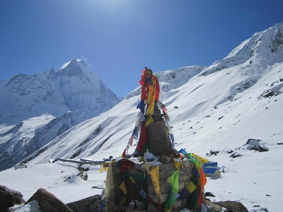 Annapurna Mountain Range: View from Annapurna Base Camp