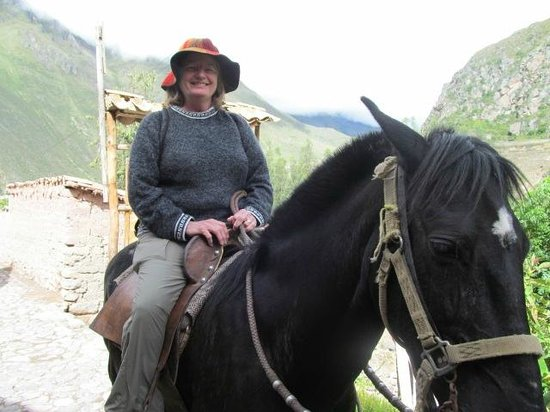Pumamarca Ruins: Me on the Paseo Horse