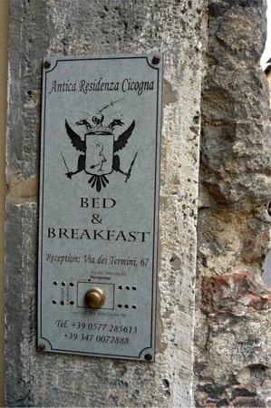 Antica Residenza Cicogna: exterior sign
