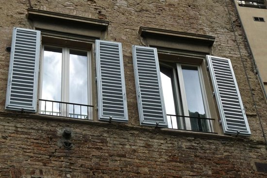 Antica Residenza Cicogna: our 2 main windows on the 3rd floor