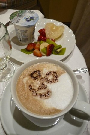 Antica Residenza Cicogna: breakfast cappuccino