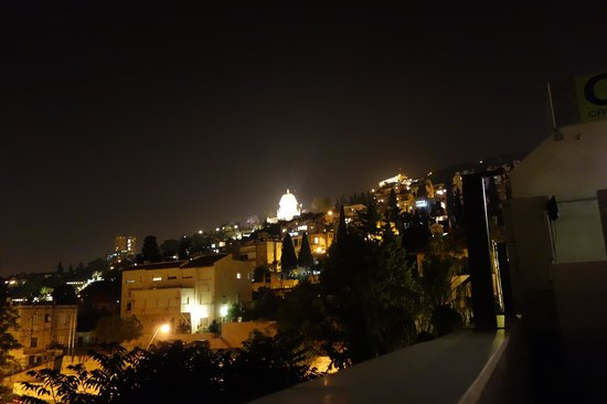 G38 Apartments: View from the roof deck at night