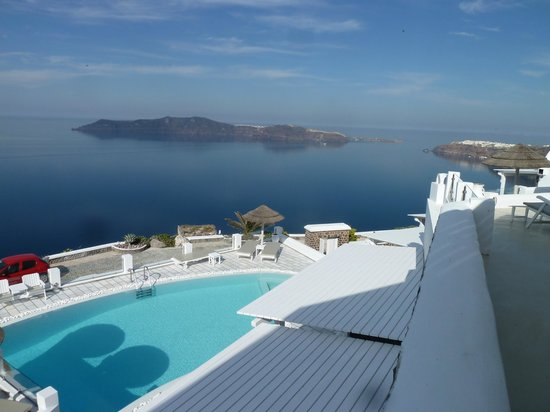 Santorini Princess: view from restaurant