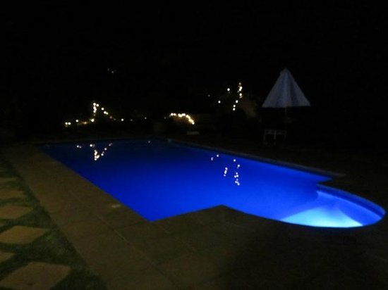 River Manor Boutique Hotel & Spa: swimming pool at night