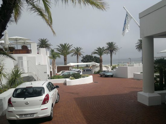 The Bay Hotel: sea view from front door of hotel