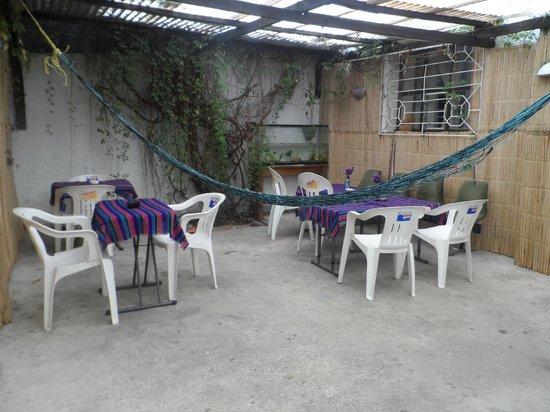 Hostal Ek Balam : area descanso