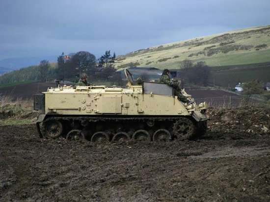 Tank Driving Scotland: Armoured personell carrier - wicked!