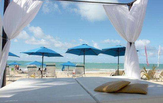 The Beach House Hotel: Relax on our private cabana beds