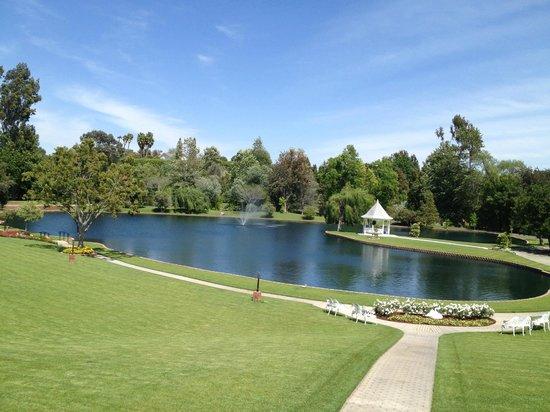 The Veranda at The Grand Tradition: Beautiful Heart Shaped Lake