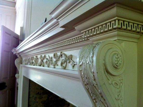 Hampton Plantation State Historic Site: Mantel millwork details in ballroom
