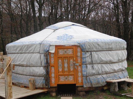 Le Camp Nicolas Vanier : yourte du matériel sellerie