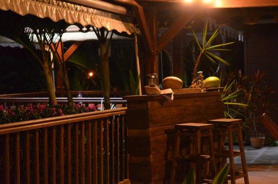 La Villa Sapotille: Terrasse commune, et espace petit-déjeuner