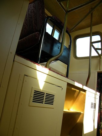 The Aurora Express: One side of the crow's nest in the caboose