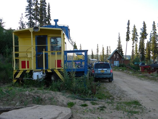 The Aurora Express: the caboose is private - even the door faces away from the rest of the train