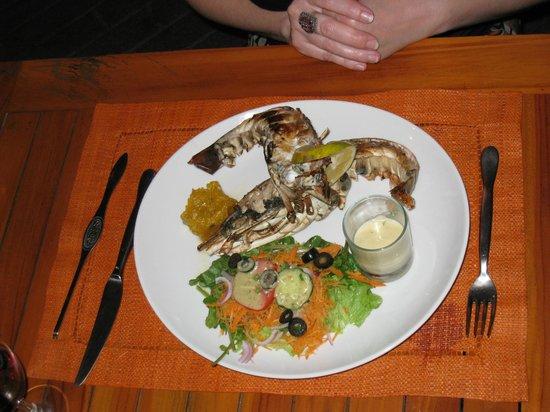 Restaurant La Plancha: langouste, un délice