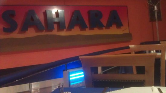 Sahara: An actual picture of the restaurant