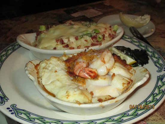 The Homestead Restaurant & Tavern: Seafood Casserole with Loaded Mashed Potatoes!