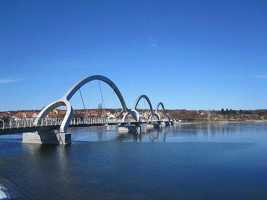 B&B Villa Orion : Bridge to Ljungaviken Listerlandet.