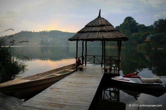 Lake Bunyonyi Overland Resort boating and swimming dock