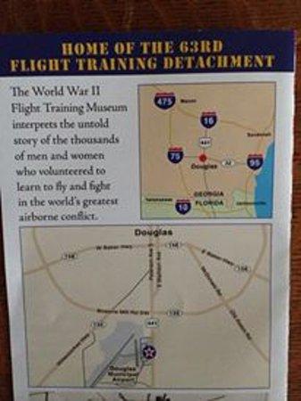 WW I I flight training Museum: Flight Museum Brochure with location map