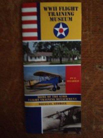 WW I I flight training Museum: Front of Flight Museum's brochure