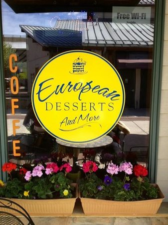 European Desserts and More: Inviting storefront at European Desserts, Canal Place, Cumberland