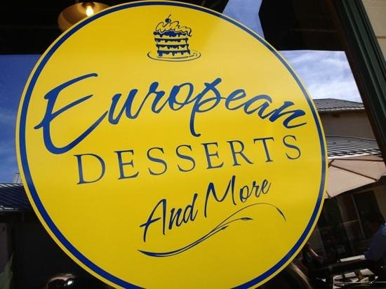 European Desserts and More: Storefront window