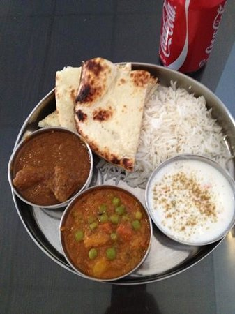 Essence of India: lunch special: goat thali
