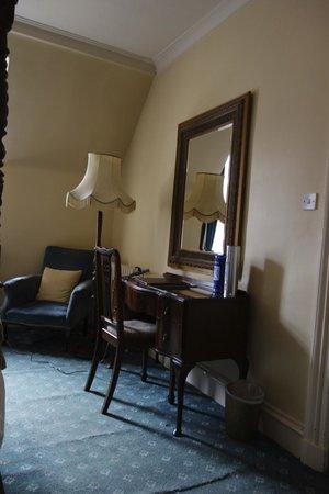 Dalmunzie Castle: Our writing desk