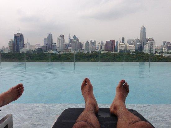 SO Sofitel Bangkok: View of  BKK from the pool area