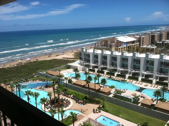 Pearl South Padre: View from our room...9th floor I believe.