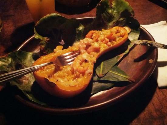 Playa de los Artistas : Butternut squash with shrimps