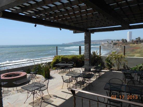 Belio Restaurant: looking north along the Ensenada coast