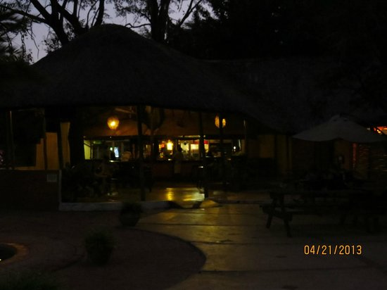 Thebe River Lodge: The bar and pool area