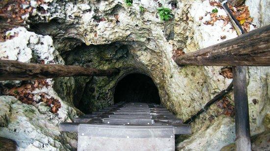 Sac Ac Tun : Entrada al Cenote