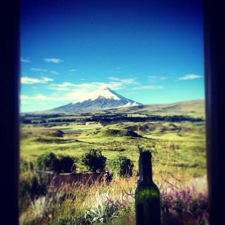 The Secret Garden Cotopaxi: view from the dorm