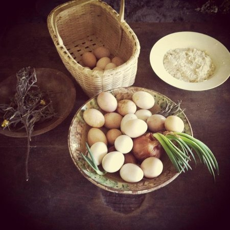 Coggeshall Farm Museum: Eggs we helped to collect