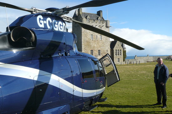 Ackergill Tower: The only way to travel