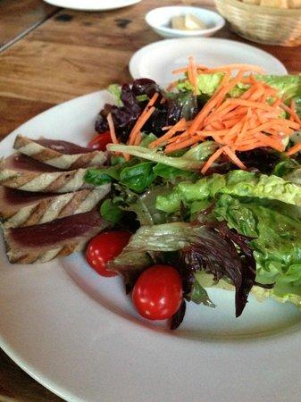 Tasteless Seared Ahi Tuna with Greens