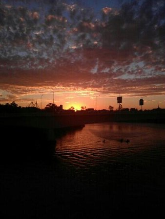 Brendan's Cafe on the Goodwill Bridge : The best way to start your day, a sunrise and one of our beautiful coffee's