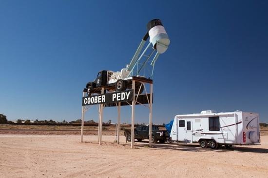 Oasis Coober Pedy Tourist Park: Another day in Coober Pedy, ready to hit the road.
